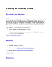 Choosing an Inventory System