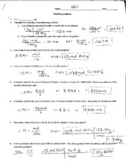 molarity dilution and review answer key -