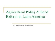 ECON 361 Ag and Land Reform