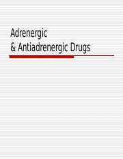 Adrenergic_Drugs