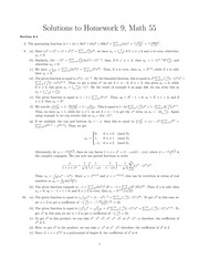 Math 55 Solutions to Problem Set 9