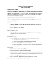 Exam Two Study Guide with Answers