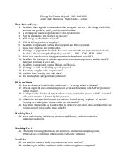 Biology for Science Majors I - Lecture Exam 2 Group Study Guide - Fall 2016 (1).docx