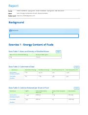 Lab 3. Energy Comparison of Fuels - Experimentation report