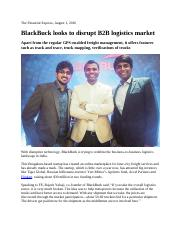 1. BlackBuck looks to disrupt B2B logistics market; Apart from the regular GPS-enabled freight manag