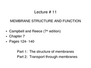 LECTURE-9 _Membrane Structure and Function