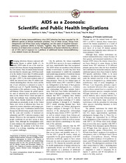 AIDS20as20a20zoonoses