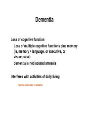 14 Alzheimer's disease  OCT 19