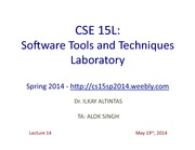 CSE15LSpring2014Lecture1419thMay2014