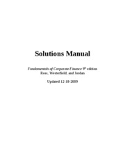 Financial Management fcf_9th_edition_solutions_manual