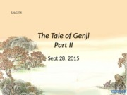Sept 28- The Tale of Genji 2