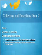Collecting and Describing Data 2.ppt