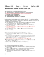 Second Exam 2014 Form C Solutions