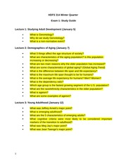 Midterm #1 Study Guide