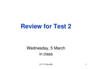 Test Review 2