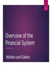 Chapter 2_Overview of the Financial System