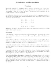 Counting principle notes
