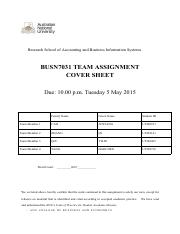 BUSN7031Team Assignment