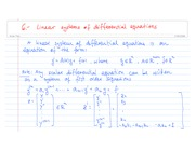 6. - Linear systems of differential equations