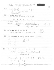Solutions for IE 575 Exam I Practice Questions