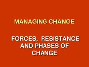 Chapter 5 - Forces of Change