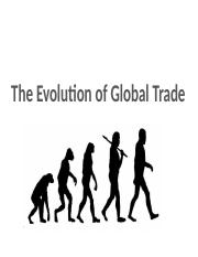 2.1 Evolution of Global Trade JA