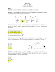Midterm Review-Solutions