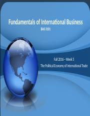 3101-101 - Week 5 - The Political Economy of International Trade(1)