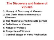 Discovery and Nature of Viruses(1)