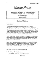 MICR 2533 Norms Notes