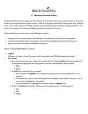 ACC 696 Milestone 1 Guidelines and Rubric
