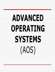 Advanced Concepts In Operating System Shivratri Pdf