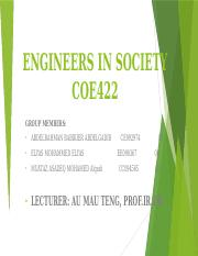 ENGINEERS IN SOCIETY