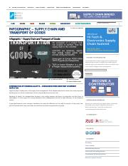 Infographic – Supply Chain and Transport of Goods | SUPPLY CHAIN MINDED