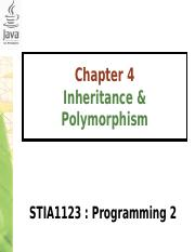 Chapter4-InheritancePolymorphismPartII.ppt