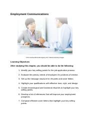 Employment Communications