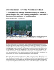 Beyond Relief Haiti Rolling Stone