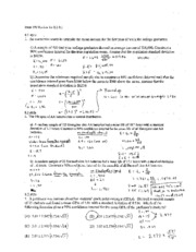 Exam 3 In-Class Review A (Solutions)