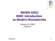 Lecture 2 Modern Biomaterials