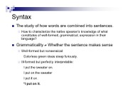 syntax combination notes