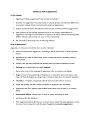 Chapter 11-aggression-textbook notes