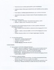 SPA 4104 Cognitive Disorders Notes