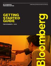 Bloomberg Education User Guide