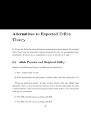 expected utlity notes