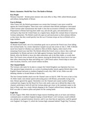 history classnotes World War Two The Battle of Britain
