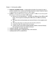 Chapter 2 notes– the Economic problem.docx
