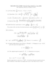 AP Calculus 12 Challenge Exam 2001 Solutions