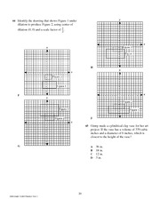 10th Grade Mathematics TAKS Practice Test 1.21-25