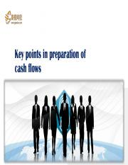 61 Key points in preparing of cash flows