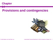 LamLow-14-Provisions and Contingencies (29 May 2008) Class Note